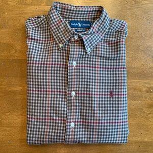 Men's Ralph Lauren Warm Long Sleeve Plaid Shirt XL